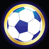 Soccer Ball. Vector illustration of a soccer ball Royalty Free Stock Images
