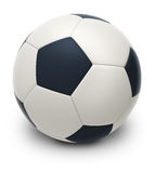 Soccer ball. 3d image. Isolated white background Stock Photography