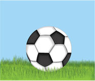 Soccer ball. Vector illustration of a soccer ball Royalty Free Stock Photography