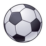 Soccer Ball. Vector illustration of an isolated black and white soccer ball royalty free illustration