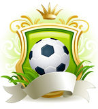 Soccer  ball. Vector illustration - banners with soccer ball, shield and crown Stock Images