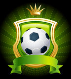 Soccer  ball. Vector illustration - banners with soccer ball, shield and crown Royalty Free Stock Photo