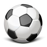 Soccer ball. Shiny soccer ball over white Royalty Free Stock Photo