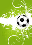 Soccer Ball. On grunge background, element for design,  illustration Stock Photo