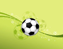 Soccer Ball. On wave background, element for design,  illustration Royalty Free Stock Photo