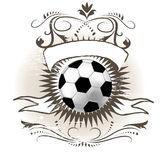 Soccer ball. (football) on grunge background Royalty Free Stock Photography