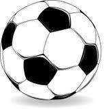 Soccer Ball. Black and white soccer ball illustration Stock Photo