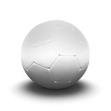 Soccer ball. White soccer ball isolated on white Royalty Free Stock Photography