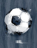 Soccer ball. With dirty liquid effect on dirty background. Abstract grunge style. EPS 10 vector illustration vector illustration