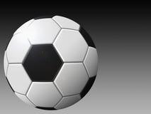 Soccer ball. On gradient background vector illustration
