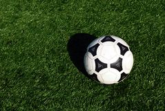 Soccer Ball. A soccer ball on grass Royalty Free Stock Images