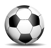 Soccer ball. Three-dimensional effect on a white background Royalty Free Stock Photos