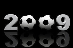 Soccer ball 2009. Fine 3d image of 2009 and soccer ball Royalty Free Stock Photography