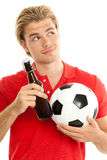 Soccer and ball Stock Image