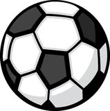 Soccer Ball. A cartoon black and white soccer ball Stock Images