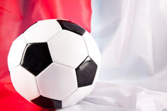 Soccer ball. And polish flag Royalty Free Stock Images