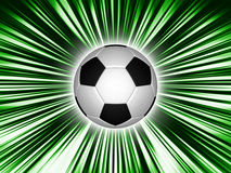 Soccer ball. On abstract background Vector Illustration