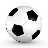 Soccer ball. With black and white truncated icosahedron pattern Stock Images
