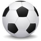 Soccer ball. Detailed Soccer balll, football icon, isolated Stock Image