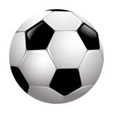 Soccer ball. Illustration of a soccer ball on a white background Royalty Free Stock Image