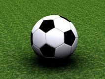 Soccer Ball. 3D illustration with soccer ball Royalty Free Stock Image