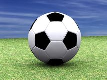 Soccer Ball. 3D illustration with soccer ball Royalty Free Stock Photography