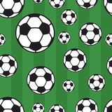 Soccer ball. Seamless soccer ball pattern, background Royalty Free Stock Photography