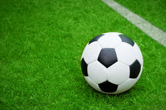 Soccer ball. Football, soccer ball on pitch Royalty Free Stock Images