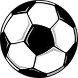 Soccer ball. A cartoon black and white soccer ball Stock Photos