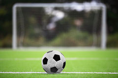 Soccer ball. On green grass Royalty Free Stock Photography