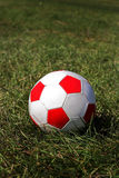 Soccer ball. On the grass Stock Photos