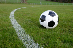 Soccer ball. On the field Stock Images