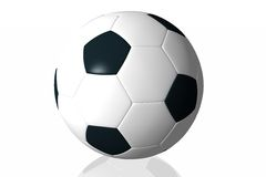 Soccer ball. Isolated in white background Stock Photos