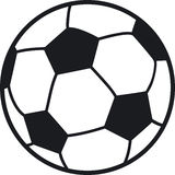 Soccer ball. Simple illustration of a soccer ball, black and white Stock Image
