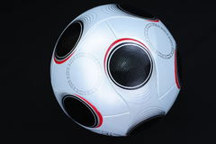 Soccer Ball. UEFA Championship soccerball on black background stock photo
