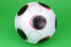 Soccer Ball. UEFA Championship soccerball on green background stock photos