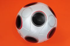 Soccer Ball. UEFA Championship soccerball on orange background stock photography