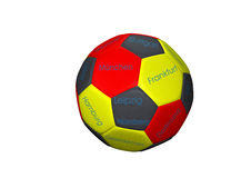 Soccer ball. Isolated on white background Stock Photography