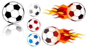 Soccer ball. On the white background Royalty Free Stock Image