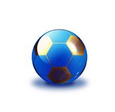 Soccer ball. Aqua style ball illustration royalty free illustration