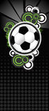 Soccer ball. A soccer ball abstract illustration in a black background Stock Photo