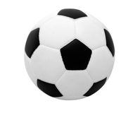Soccer ball. The soccer ball on white Stock Photo