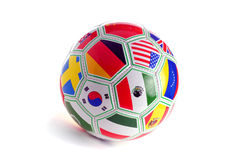 Soccer Ball. World Cup Soccer Ball With National Flags Royalty Free Stock Image