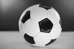 Soccer Ball. Black and white studio shot Stock Image