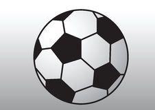 Soccer ball. A black and white soccer ball illustration Royalty Free Stock Images