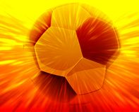 Soccer ball abstract Royalty Free Stock Photo