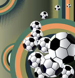 Soccer ball abstract background. Abstract background with soccer balls royalty free illustration