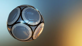 Soccer Ball on Abstract Background Royalty Free Stock Images
