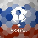 Soccer ball on abstract background. Soccer ball on abstract color background royalty free illustration
