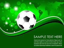 Soccer ball with abstract background Royalty Free Stock Photography